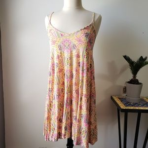 EUC BOOHOO PSYCHEDELIC PRINT TANK SWING DRESS 14